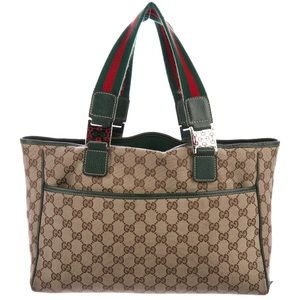 Gucci Canvas Web Tote